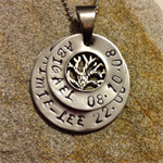Personalised gift hand stamped Mommy / Mummy family Stack Washer Necklace - with